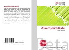 Altmannsdorfer Kirche kitap kapağı
