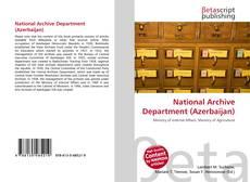 Portada del libro de National Archive Department (Azerbaijan)