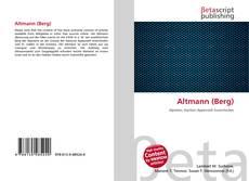 Portada del libro de Altmann (Berg)