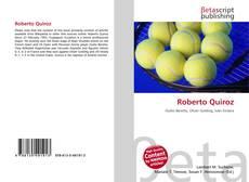 Portada del libro de Roberto Quiroz