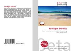 Bookcover of Tao Ngoi District