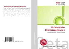 Bookcover of Altpreußische Heeresorganisation