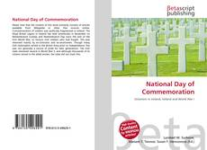 Bookcover of National Day of Commemoration