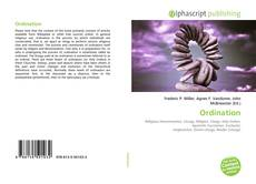 Portada del libro de Ordination