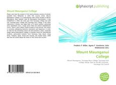 Bookcover of Mount Maunganui College