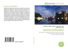 Copertina di Statute of Rhuddlan