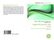 Bookcover of Apple 80-Column Text Card