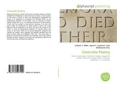 Bookcover of Concrete Poetry