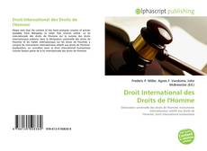 Bookcover of Droit International des Droits de l'Homme