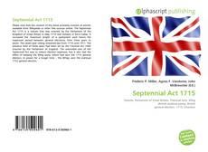 Bookcover of Septennial Act 1715