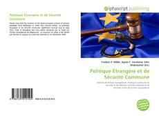 Capa do livro de Politique Étrangère et de Sécurité Commune