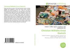 Обложка Christian Wilhelm Ernst Dietrich