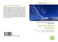Bookcover of Antoinette Military Monoplane