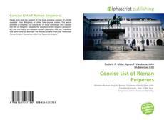 Couverture de Concise List of Roman Emperors