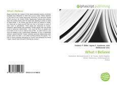 Buchcover von What I Believe