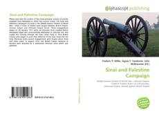 Bookcover of Sinai and Palestine Campaign