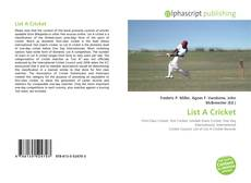 Bookcover of List A Cricket