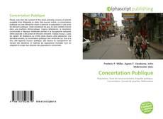 Couverture de Concertation Publique