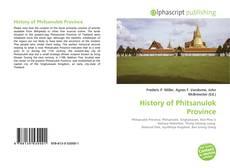 History of Phitsanulok Province kitap kapağı
