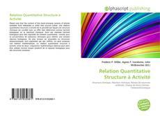 Buchcover von Relation Quantitative Structure à Activité