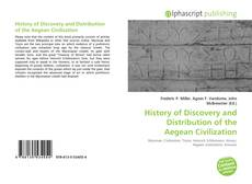Buchcover von History of Discovery and Distribution of the Aegean Civilization