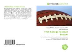 Bookcover of 1926 College Football Season