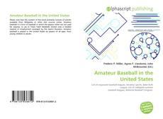 Amateur Baseball in the United States kitap kapağı