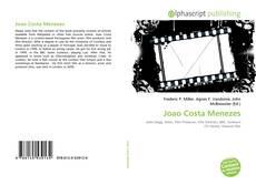 Capa do livro de Joao Costa Menezes