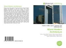 Buchcover von Miami Modern Architecture