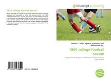 Bookcover of 1869 college football season