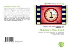 Bookcover of Abdulkadir Ahmed Said