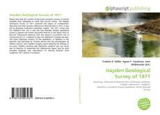 Bookcover of Hayden Geological Survey of 1871