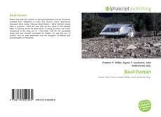 Bookcover of Baal-hanan