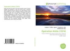Opération Attila (1974)的封面
