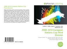 Bookcover of 2008–2010 European Nations Cup Third Division
