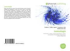 Couverture de Lexicologie