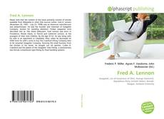 Bookcover of Fred A. Lennon