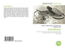 Bookcover of David Blocker