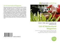 Bookcover of List of Horticultural Magazines