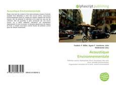 Обложка Acoustique Environnementale