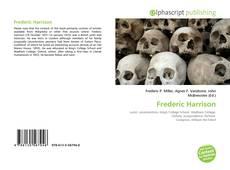 Capa do livro de Frederic Harrison