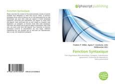 Couverture de Fonction Syntaxique