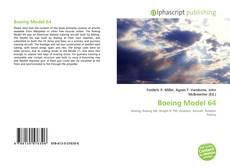 Capa do livro de Boeing Model 64