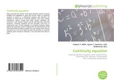 Bookcover of Continuity equation