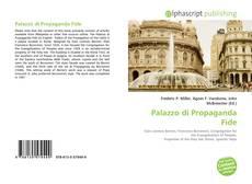 Couverture de Palazzo di Propaganda Fide