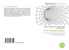 Couverture de B. S. Chandrasekhar