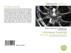Bookcover of 1970 Motor Trend 500