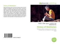 Bookcover of History of Meditation