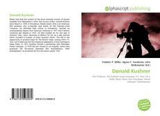 Copertina di Donald Kushner