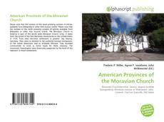 Couverture de American Provinces of the Moravian Church